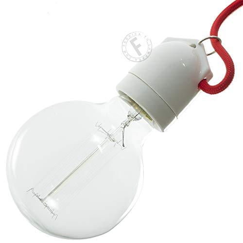 Portalámparas porcelana E27 blanco para guirnalda - Accesorios para lámparas