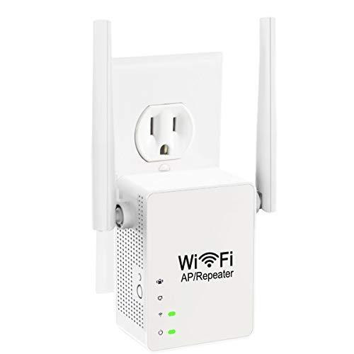 BIGFOX Amplificador WiFi con Amplia Cobertura 2,4 GHz, 300 Mbps, Repetidor WiFi con Modo Repetidor/Ap/Función WPS, Extensor de Red, Plug y Play, Amplificador señal WiFi con Puerto Ethernet