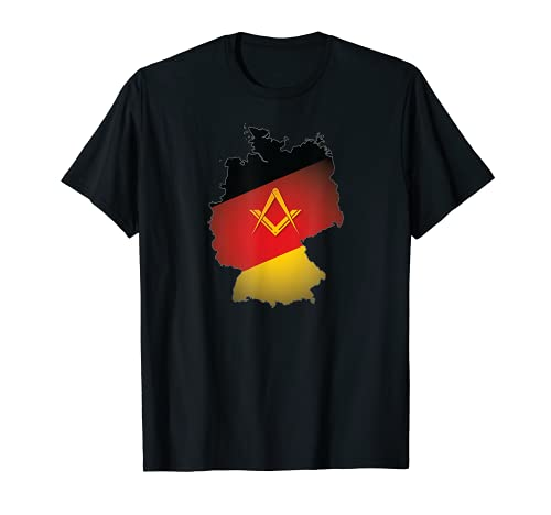 Freimaurer Shirt Deutschland Freimaurer Quadrat & Kompass