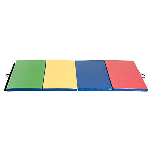 HOMCOM Colchoneta 245x120x5cm Grosor 5 cm Plegable con Asas 4 Pliegues Yoga Pilates
