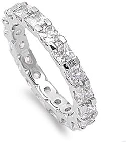 Precious Gem Jewellers Sterling Sales results No. High quality new 1 Silver Cut Zircon Princess Cubic