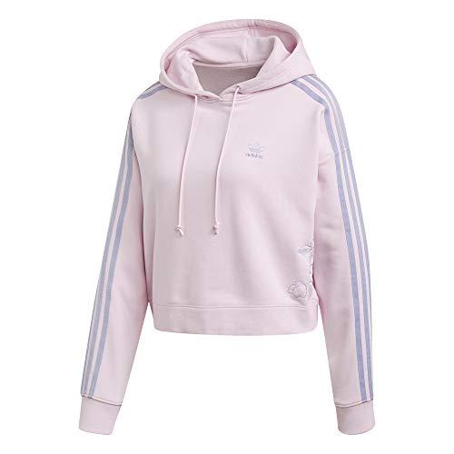 adidas Originals Damen 3-Streifen Hoodie Pink 38 (M)