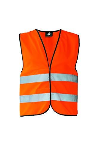 Korntex KXVWOM Warnweste Standard - schwarzer Saum, orange, M