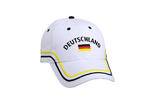 Deutschland Basecap / Fan Cappy - Cappie / Cap / Fußball WM / Handball EM - Deutschland Flagge
