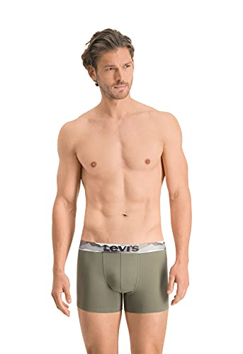 Levi's Mens Printed Waistband Men's Boxer Briefs, Khaki, L