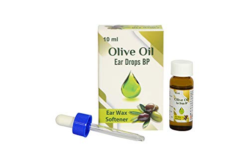 Olive Oil Ear Drops BP 10ml with Dropper (Sai-Meds) Ear Wax Softener (Pack of 3)