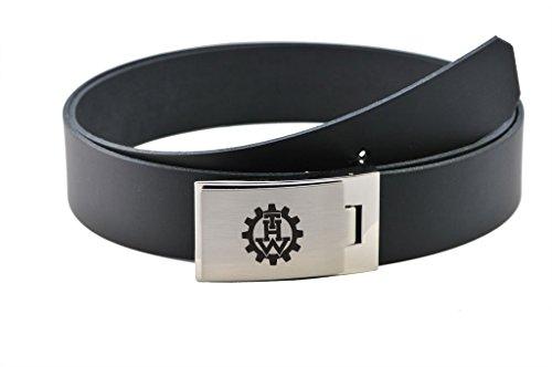 MIH-Medical THW Koppelgürtel - Leder - schwarz - mit gelasertem THW Signet