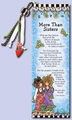 Suzy Toronto Inspirational Bookmark'More Than Sisters'