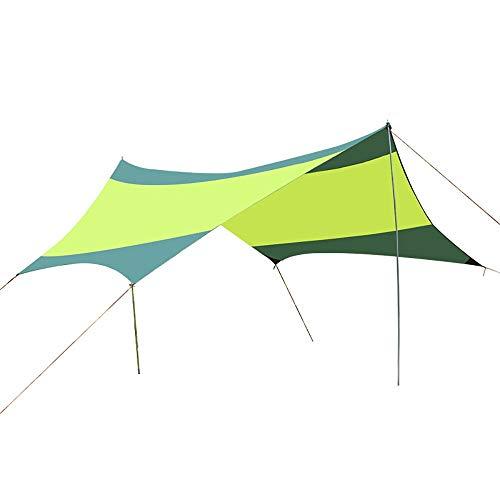 SJAPEX Lightweight Waterproof Hex Camping Tarps for Camping Outdoor Travel, Portable Windproof Anti UV Sun Shelter for Snow, Hammock Rain Fly Tent Tarp
