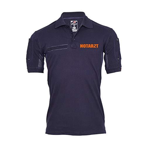 Copytec Tactical Poloshirt Notarzt Orange Rettung Feuerwehr Arzt Notdienst #35340, Größe:L, Farbe:Dunkelblau