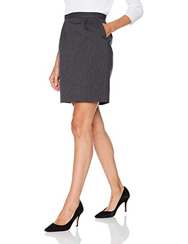Trucco - falda oficina para mujer, color gris oscuro, talla 40