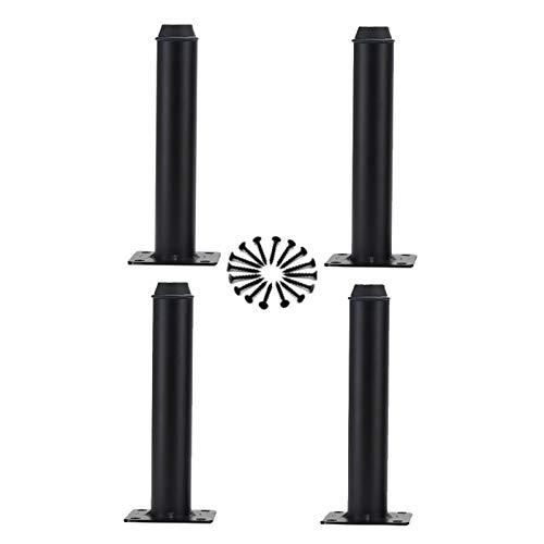HLMBQ Patas de armario de color negro de 4.1 pulgadas, juego de 4 pies de cocina, unidad de encimera, barra de desayuno, mesa de escritorio, sofá de apoyo ajustable, con almohadillas protectoras