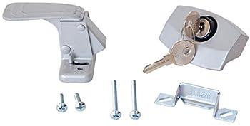 RV Designer E311 Camper Trailer RV Door Latch with Lock Entry Door Hardware  Gray