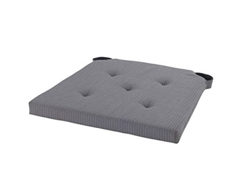 Ikea Justina Gray Chair Cushion Pad, Woven with Yarn , Reversible