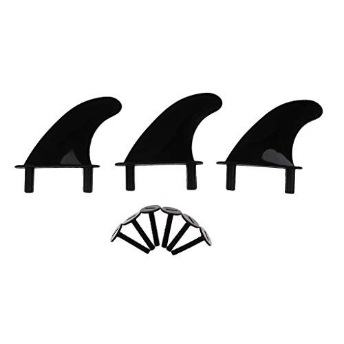 F Fityle 3Pcs Soft Top Surf Fin para Tablas de Surf Softboard y Sup Stand Up Paddle Board