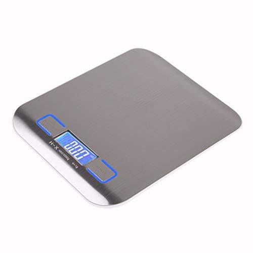 Elektronische keukenweegschaal Digitale voedselschaal RVS weegschaal LCD hoge precisie meten TOOLS11 lb/5000g