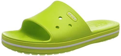 crocs Unisex-Erwachsene Crocband Iii Slide Clogs, Limettenpunsch/ Weiß, 36-37 EU