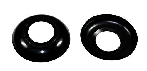 SN-TEC Abdeck Rosetten Rund für Geländer | Rohre | Heizungen usw. Schwarz/Weiß/Grau, Durchmesser wählbar ! (10 Stück) (Aussen 57mm / Innen 22mm, Schwarz)