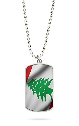 Kette Dog Tag Anhänger Libanon Fahne 2