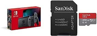 Nintendo Switch 本体 (ニンテンドースイッチ) Joy-Con(L)/(R) グレー(バッテリー持続時間が長くなったモデル)+サンディスク microSD 256GB