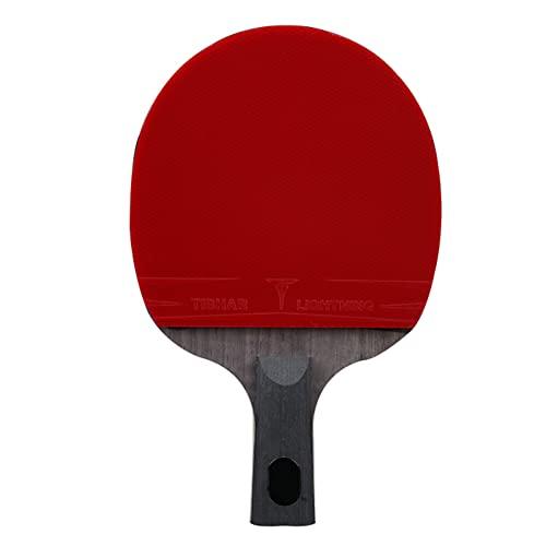 LINGOSHUN Raquetas de Ping Pong Professional,Raquetas de Tenis de Mesa Aprobada por la ITTF para Nivel Intermedio y Avanzado,Buena Velocidad y Rotació / 9 Stars/Short handle