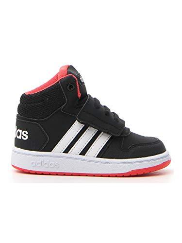 adidas Unisex-Kinder Hoops MID 2.0 I Fitnessschuhe, Schwarz (Negro 000), 27 EU
