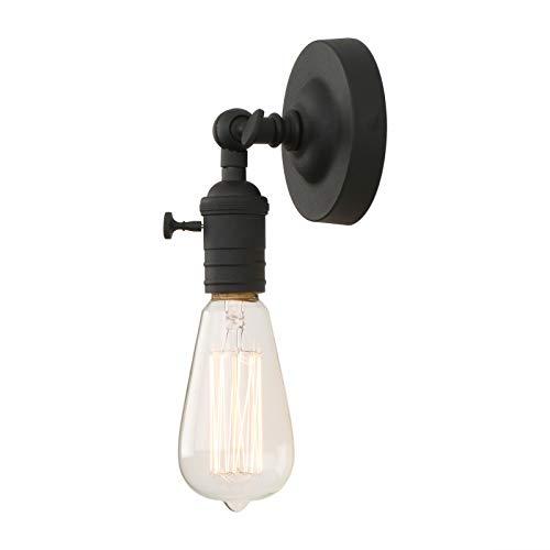 Phansthy Vintage Industrie Loft-Wandlampen Wandbeleuchtung Wandleuchten Antik Deko Design Wandbeleuchtung Küchenwandleuchte (Schwarz Farbe)