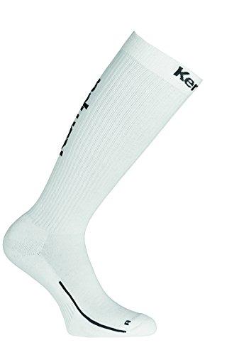 Kempa Herren Lang-200354501 Socken, weiß/Schwarz, 41-45