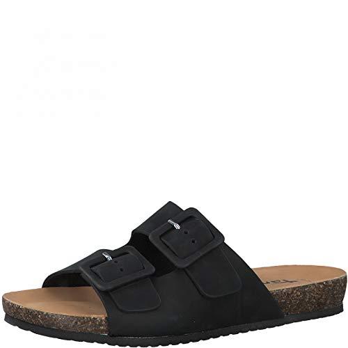 Tamaris Femme Mules, Dame Sabots,Pantoufle,Slides,Sandale,Chaussure d'été,Chaussure de Loisir,Black Pull UP,40 EU / 6.5 UK