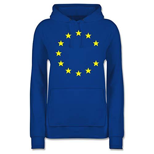 Statement Shirts - Europa 11 Sterne Brexit - L - Royalblau - JH001F - Damen Hoodie und Kapuzenpullover für Frauen