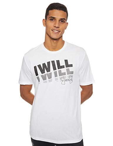 Under Armour UA I Will 2.0 SS - Camiseta, Hombre, Blanco (White/Black 100) L