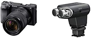 Sony Alpha A6400 Mirrorless Camera with 18-135mm Lens - E Mount Compatible - Ilce-6400M/B with Sony ECMXYST1M Stereo Micro...