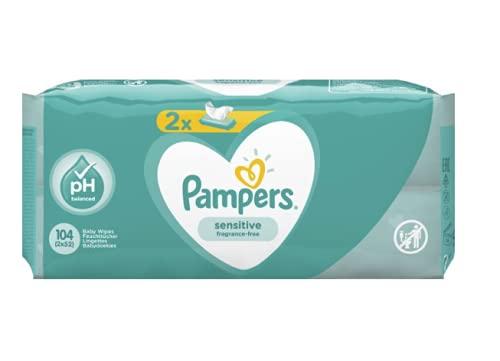 Pampers 81687189 Sensitive Baby Feuchttücher, weiß