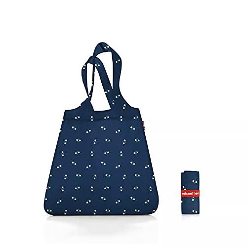 Reisenthel Mini Maxi Shopper Special Edition Bavaria 5 Blue blau – Einkaufsbeutel mit 15l Volumen aus reißfestem Polyestergewebe bei winzigem Packmaß – wasserabweisend – B 43,5 x H 63 x T 6 cm