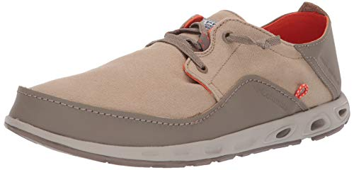Columbia Men's Bahama Vent Relaxed Laced Boat Shoe, British Tan/Tangy Orange, 11