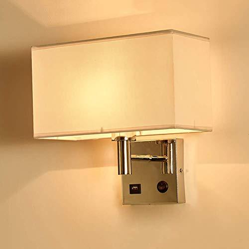 Wandverlichting, decoratieve wandlamp, bevat kleine elektronische apparaten, complexe processen, draagbare luidsprekers, van White Switch USB