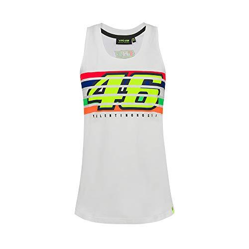 Valentino Rossi Stripes, Camiseta Mujer, Blanco, M