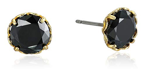 Kate Spade New York That Sparkle Round Earrings Jet One Size