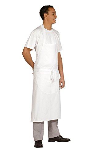 MAUVERTEX - Tablier de cuisine à bavette - BLANC - 95 X 102 cm