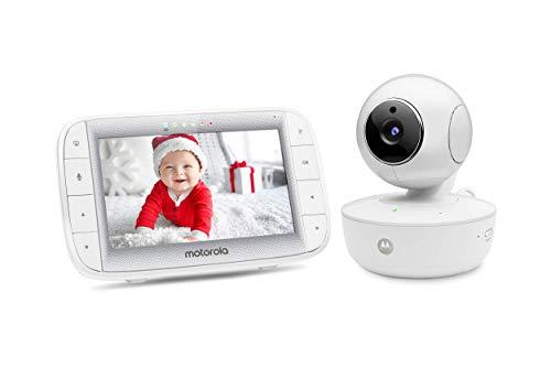 """Motorola Video Baby Monitor 5"""" Color Parent Unit, Remote Pan/Tilt/Zoom, Portable Rechargeable..."""