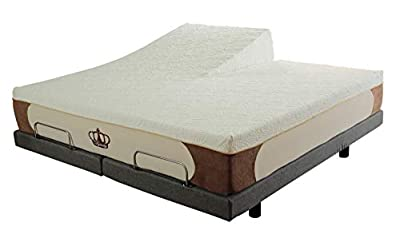 DynastyMattress Cool Breeze 12-Inch HD Gel Memory Foam Mattress for Adjustable Beds (Split Head King)