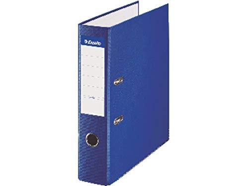 ESSELTE 42311 - Archivador de palanca plástico forrado con rado, ojete y cantonera DIN A4. Lomo 75 mm color azul