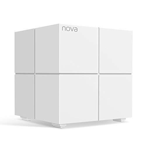 Tenda Nova MW6 Sistema Mesh WiFi hasta 165m2 de cobertura para todo el hogar (Reemplaza Router y Repetidores Wifi), 2 Puertos Gigabit, Control Parental, Compatible con Alexa y Philips Hue (MW6-1Pack)