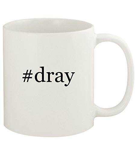 #dray - 11oz Hashtag Ceramic White Coffee Mug Cup, White