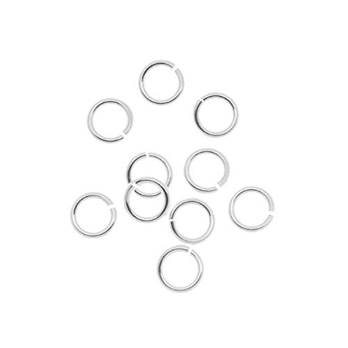 Beadaholique SSJL06 10-Piece Sterling Jump Lock Rings, 6mm, 18-Gauge,...