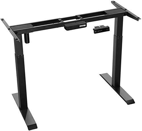 Forfar Mesa de pie eléctrica con marco de pie y motor único, mesa de trabajo de altura ajustable para oficina y hogar, con botón de memoria