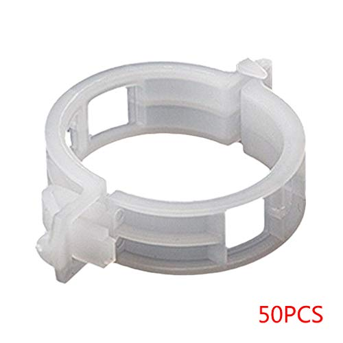 Yihaifu 50PCS/Set Reusable Plastic Plant Support Clips Plants Hanging Vine Garden Greenhouse Vegetables Tomatoes Clip