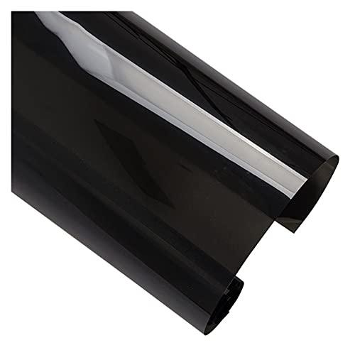"""Impetuous Prueba Negro Coche Ventana Tinto Cintura Tinto Solar VLT15% Etiqueta de Cristal Etiqueta de Sol Sun Shade Window Wrap Vinyl con 50cm / 20"""" (Size : 50cmx200cm)"""