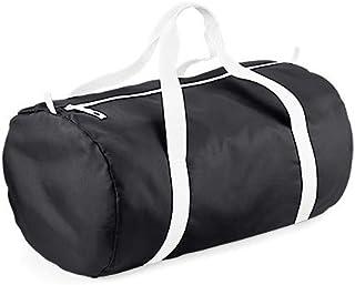 BagBase Unisex BG150BKWH Pack-Away-Tasche, Schwarz/Weiß, Größe M