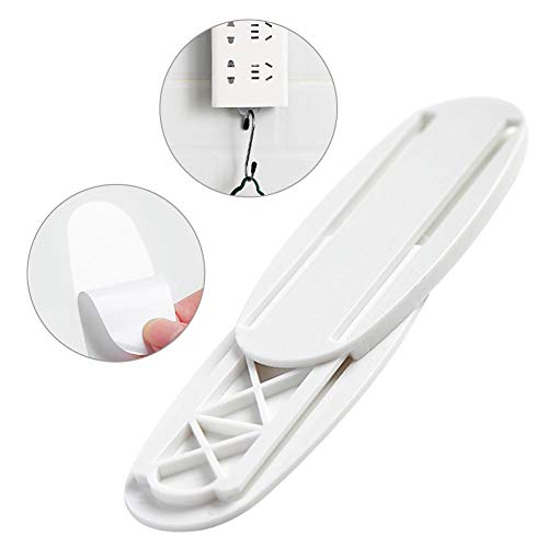 Dettelin Zelfklevende stopcontactfixator, voor thuis en kabel, routerhouder, wandmontage, boorvrije stopcontactfixeerer